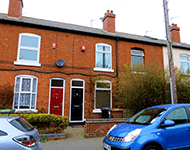 Terraced houses in Wednesbury, West Midlands