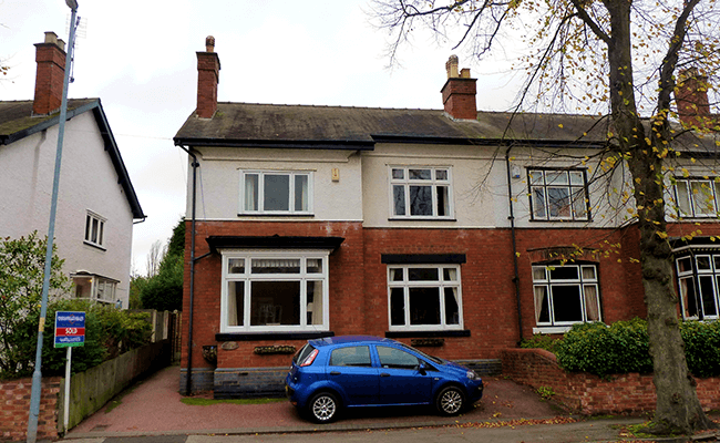 Semi-detached brick property in Wednesbury